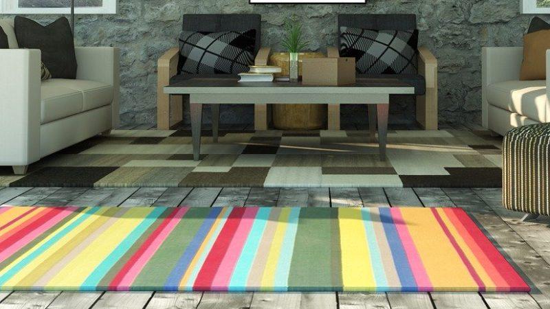 タイルカーペットの配色使いのイメージ
